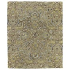 Christopher Kashan Gold Hand-tufted Rug (8'0x 10') | Overstock.com Shopping - The Best Deals on 7x9 - 10x14 Rugs
