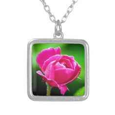 Rosy Pink Personalized Necklace