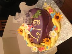 Tangled cake for a beautiful 4 year old