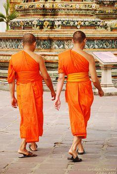 Buddhist monks in Bangkok, Thailand
