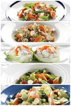 Como quien dice el verano ya está aquí y cada vez nos apetece más cenar algo fresco y ligero. Por eso hoy te proponemos cinco recetas de ensaladas con Barritas Krissia.  En Modalia I http://www.modalia.es/estilo-de-vida/7096-disfruta-verano-ensaladas-barritas-krissia.html