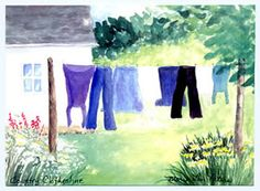 country clothes line