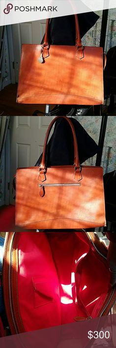 Dooney and Bourke secretarial Brief Saddle colored briefcase or large tote Dooney & Bourke Bags Totes