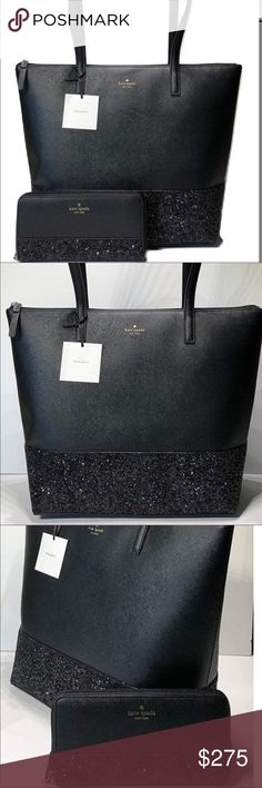 e608bcfc7f97 Kate Spade sparkle tote  amp  wallet Price FIRM. Authenticity