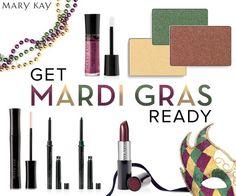 Mardi Gras Ready!  Fat Tuesday has never looked so beautiful!  Mary Kay ideas.  www.marykay.com/kaseyedwards