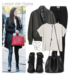 """London With Sophia"" by onedirectiondress ❤ liked on Polyvore featuring Paige Denim, H&M, Monki and Forever 21"