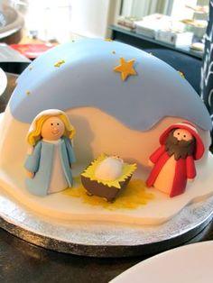 Waitrose Christmas Nativity Cake