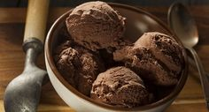 sorvete chocolate taca
