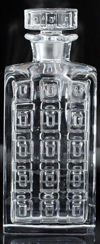 C Hadeland Norway Geometric Form Crystal Decanter