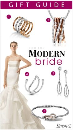 Wedding Gift Guide : ... gift guide for every type of bride jewelry gift guide for every type