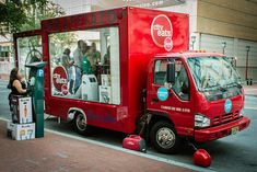 Concept idea for cities to advertise? Guerrilla marketing (with people inside?) || Graffiato Food Truck, via Flickr.