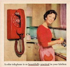 vintage phone ad | TELEPHONE~1950's Telephone Print Advertisement by GeeWhizDesigns, etsy