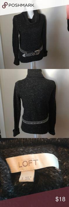 Loft cowl neck sweater bundle Loft cowl neck sweater bundle.   Also included is this gorgeous studded belt that measures 42 inches., yas004 LOFT Sweaters Cowl & Turtlenecks