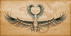 eagle wing tribal tattoo images | Eagle Tribal Tattoo Design by ~Amoebafire on deviantART