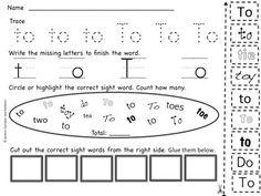 Sight Word Worksheets : highlight, trace, read and more! (set two) Kindergarten and First Grade Sight Word Worksheets, Sight Word Activities, Sight Word Practice, Sight Words, Kindergarten Language Arts, Kindergarten Phonics, Preschool, Teaching Kindergarten, Teaching Resources