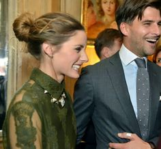 Olivia Palermo with Johannes Huebl at the Cocktail Dinatoire Of German VOGUE In Honor Of Mario Testino - 2 March 2014
