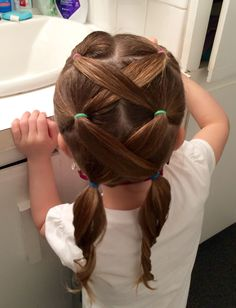Frisuren how to style baby girl hair - Hair Style Girl Girls Hairdos, Baby Girl Hairstyles, Ponytail Hairstyles, Hair Girls, Female Hairstyles, Kid Hair, Long Hairstyles For Girls, Hairdos For Little Girls, Hairstyle For Kids
