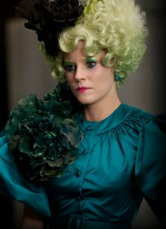 Effie Trinket from the Hunger Games was full of color!