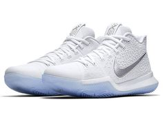 "The Nike Kyrie 3 gets its most pristine look yet (and probably ever) this summer with the upcoming ""Chrome"" edition dropping this June. The clean look for Mr. Irving's third signature model features a pure white upper with shiny chrome … Continue reading →"