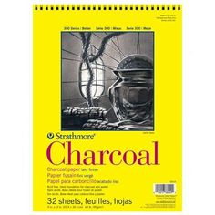 Charcoal Drawing Easy Charcoal Paper, White Charcoal, Charcoal Drawings, Drawing Letters, Paper Drawing, Good Tutorials, Amazon Art, Colored Pencils, White Paper