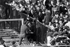 Chelsea and Liverpool fans clash at Stamford Bridge in 1982
