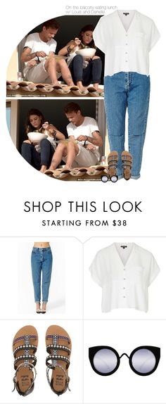 """""""On the balcony eating lunch w/ Louis and Danielle"""" by talitastyles ❤ liked on Polyvore featuring Topshop, Billabong and Quay"""