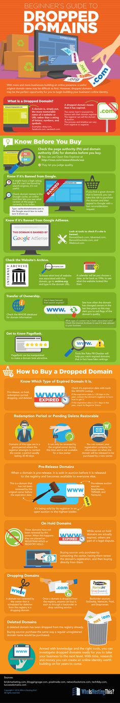 Ways to successfully buy dropped domains and what resources to use before making a purchase decision.