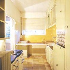 The yellow frankfurt kitchen is in London