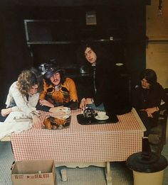 Led Zeppelin at Chateau Marmont, 1969. Photo byJay Thompson.