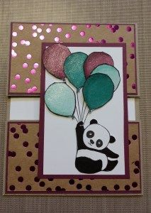 """So many exciting items in our new Sale-A-Bration catalog with Stampin'Up it was hard to decide what I would start with, however the Pandas won! I love them and could not wait to start making some cards so I made three! I made the standard size card, 4 1/4 by 5 1/2 and cut the … Continue reading """"Sale-A-Bration Kickoff Blog Hop"""""""