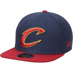 Men s New Era Navy Wine Cleveland Cavaliers 2-Tone Original Fit 9FIFTY  Adjustable Snapback Hat 0d985dddeb3