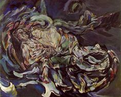 Oskar Kokoschka - The Bride of the Wind. I was drawn to the woman in the picture. Her face looks soft in comparison to the rest of the brush strokes.