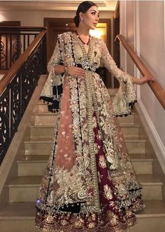 will open the show for today in London ⚘💕 Pakistani Formal Dresses, Pakistani Wedding Outfits, Indian Bridal Outfits, Pakistani Bridal Dresses, Pakistani Wedding Dresses, Bridal Lehenga, Indian Dresses, Pakistani Party Wear, Glam Look