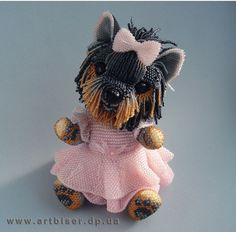 Йорочки Beaded Flowers Patterns, Crochet Flower Patterns, Beading Patterns, Beaded Crafts, Beaded Ornaments, Seed Bead Art, Beaded Boxes, Dog Jewelry, Animal Projects