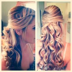 graduation hairstyle