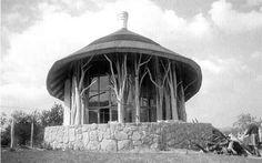 Research into Organic Design - Imre Makovecz Organic Architecture, Round House, Future House, Gazebo, Villa, Outdoor Structures, Garden, Houses, Design