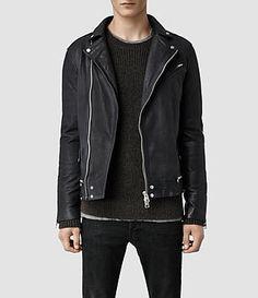 AllSaints Akira Biker Jacket in Ink. $650. A great statement piece.