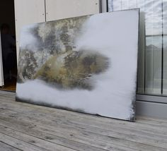 Oryginal Abstract paintings, akryl, honey, grey