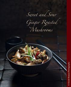 Sweet and Sour Ginger Roasted Mushrooms Recipe on Yummly. @yummly #recipe
