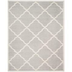 Safavieh Indoor/ Outdoor Amherst Light Grey/ Beige Rug (8' x 10') - Overstock™ Shopping - Great Deals on Safavieh 7x9 - 10x14 Rugs