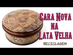 Lata Reciclada e Decorada Estilo Vintage ( ARTESANATO, DIY, RECICLAGEM ) - YouTube