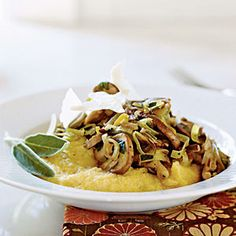 Mouth watering soft Polenta with Wild Mushroom Sauté