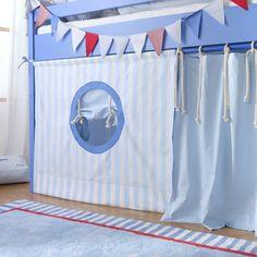 Annette Frank Spielbett Segelboot, Hochbett 90 x 200 cm, mit...