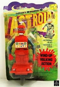 Robots - ASTROID ROBOT - DURHAM INDUSTRIES - HONG KONG - ALPHADROME ROBOT AND SPACE TOY DATABASE