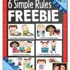 Back to School FREEBIE - 6 Simple Classroom Rules with Pos
