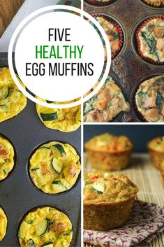 Make your pre-holiday mornings hassle free with these five make-ahead quick, easy and healthy Breakfast Egg Muffins. They're perfect for a grab and go snack for the kids too! #healthyrecipes #slenderkitchen #breakfast #kidfriendly #makeahead