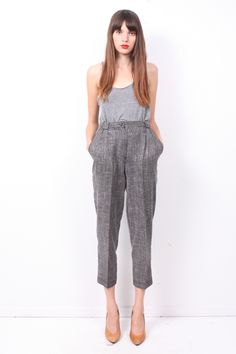 charcoal tweed trousers / ramona west