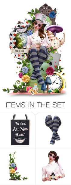 """Keep It Tea"" by girlinthebigbox ❤ liked on Polyvore featuring art, Wonderland, aliceinwonderland, madhatter, MadTeaParty and aliceliddell"
