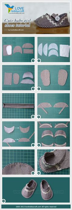 Cute baby girl shoes tutorial share cute things at www.sharecute.com