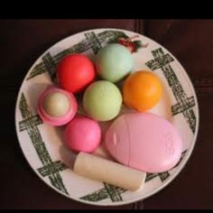 Eos lip balm and hand cream.. Can't choose what one I love more
